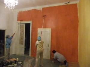 Hostel Team Hard at Work