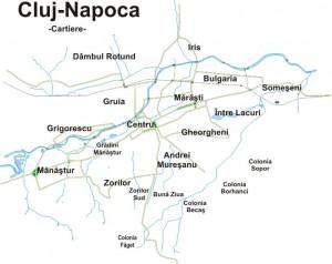 Neighborhoods of Cluj