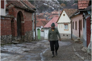 Local in Transylvanian village