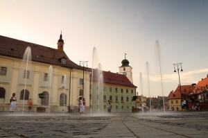 The Big Square or Piata Mare in Sibiu