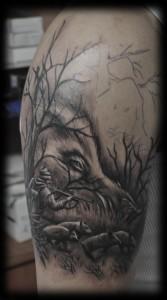 13.Hunt tattoo,  Tattoo artists in Cluj-Napoca