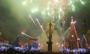 Romania National day 1 December Cluj, Winter wonderland in Transylvania
